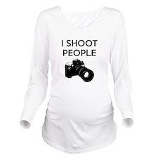 I shoot people - pho Long Sleeve Maternity T-Shirt