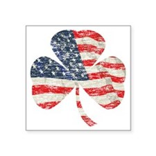 "Irish-American Square Sticker 3"" x 3"""