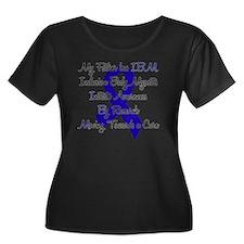 IBM Awar Women's Plus Size Dark Scoop Neck T-Shirt