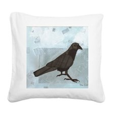 Raven Square Canvas Pillow