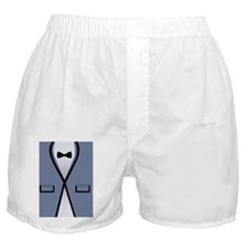 Blue Suit Boxer Shorts