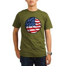 US Flag Basketball T-Shirt
