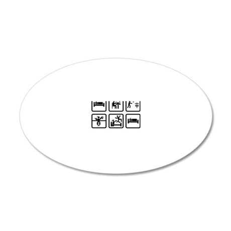 Disk-Golf-ABA1 20x12 Oval Wall Decal