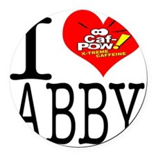 I Heart Abby and Caf-Pow of NCIS  Round Car Magnet