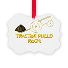 Tractor Pulls Rock Ornament