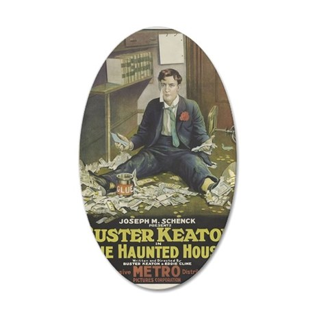 buster keaton 35x21 Oval Wall Decal
