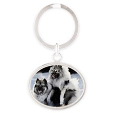 Lexie and Bridget Oval Keychain