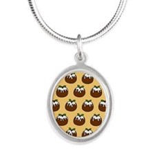 'Puddings' Silver Oval Necklace