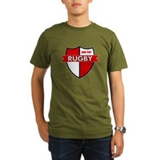 Rugby Shield White Red T-Shirt