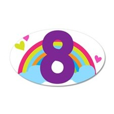 Rainbow 8th Birthday Wall Decal