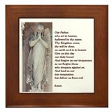 Catholic version of The Lord's Prayer Framed Tile