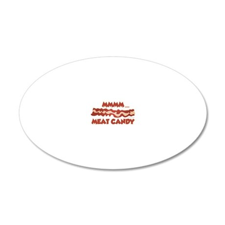 Meat Candy 20x12 Oval Wall Decal