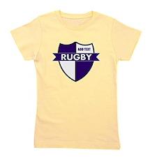 Rugby Shield White Purple Girl's Tee