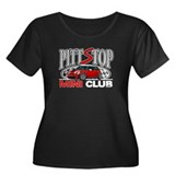 PittStop MINI Women's Plus Size Scoop Neck Dark T-
