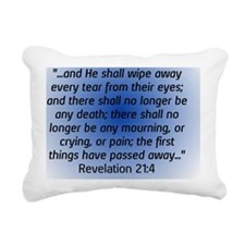 Revelation 21:4 Sympathy Rectangular Canvas Pillow