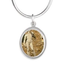David Silver Oval Necklace