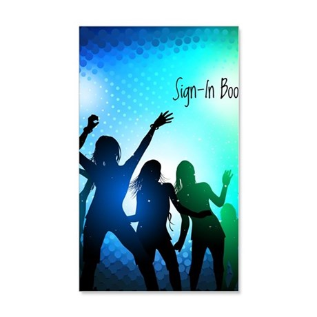 Zumba sign-in book front cover 20x12 Wall Decal