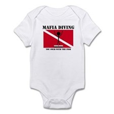 italy Mafia Mob Diving Infant Bodysuit