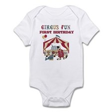 Circus Fun 1st Birthday Infant Bodysuit
