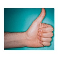 Thumbs up sign Throw Blanket
