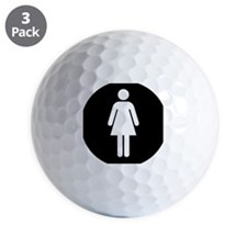 Ladies Room symbol Golf Ball