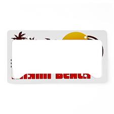 Miami Beach Florida License Plate Holder