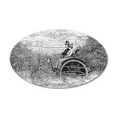 Electric dogcart, 19th centu 35x21 Oval Wall Decal