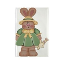 Girl Little Bunny Rectangle Magnet