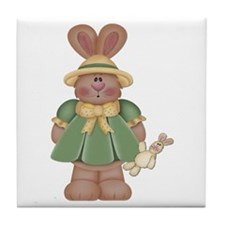 Girl Little Bunny Tile Coaster