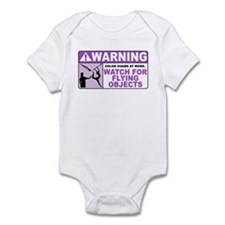 Flying Objects, Purple Infant Bodysuit