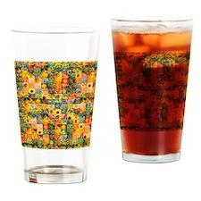 Spring Flower Patchwork Quilt Drinking Glass