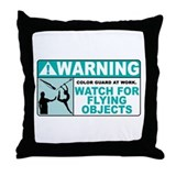 Flying Objects, Teal Throw Pillow