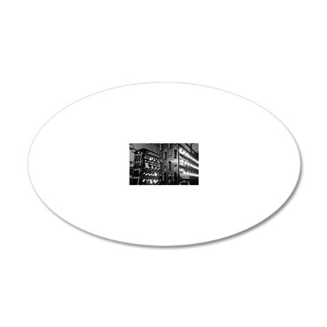 Electric light bulb research 20x12 Oval Wall Decal