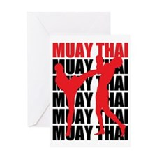 Muay Thai Greeting Card