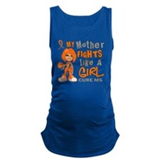 D Mother Fights Like Girl MS 42 Maternity Tank Top