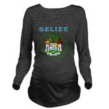 Belize coat of arms Long Sleeve Maternity T-Shirt