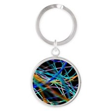 Electrical wires Round Keychain