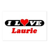 I Love Laurie Postcards (Package of 8)