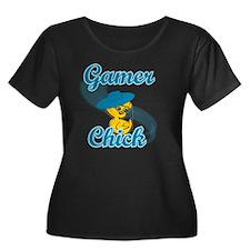 Gamer Ch Women's Plus Size Dark Scoop Neck T-Shirt
