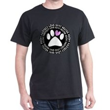 spay neuter adopt BLACK OVAL T-Shirt