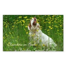 Clumber Spaniel Wall Calendar Decal