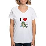 I Heart (Love) Green Olives Women's V-Neck T-Shirt
