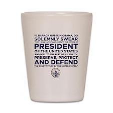 Presidential Oath Shot Glass