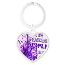 Im Rockin Purple for my Sister in L Heart Keychain