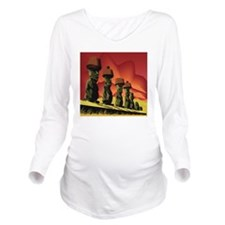Easter Island Long Sleeve Maternity T-Shirt