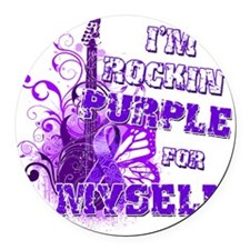 Im Rockin Purple for Myself Round Car Magnet