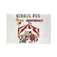 Circus Fun 4th Birthday Rectangle Magnet