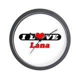 I Love Lana Wall Clock