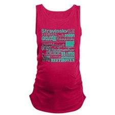 Classical Composers Maternity Tank Top