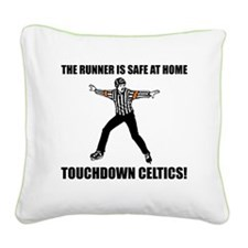 Touchdown Celtics Square Canvas Pillow